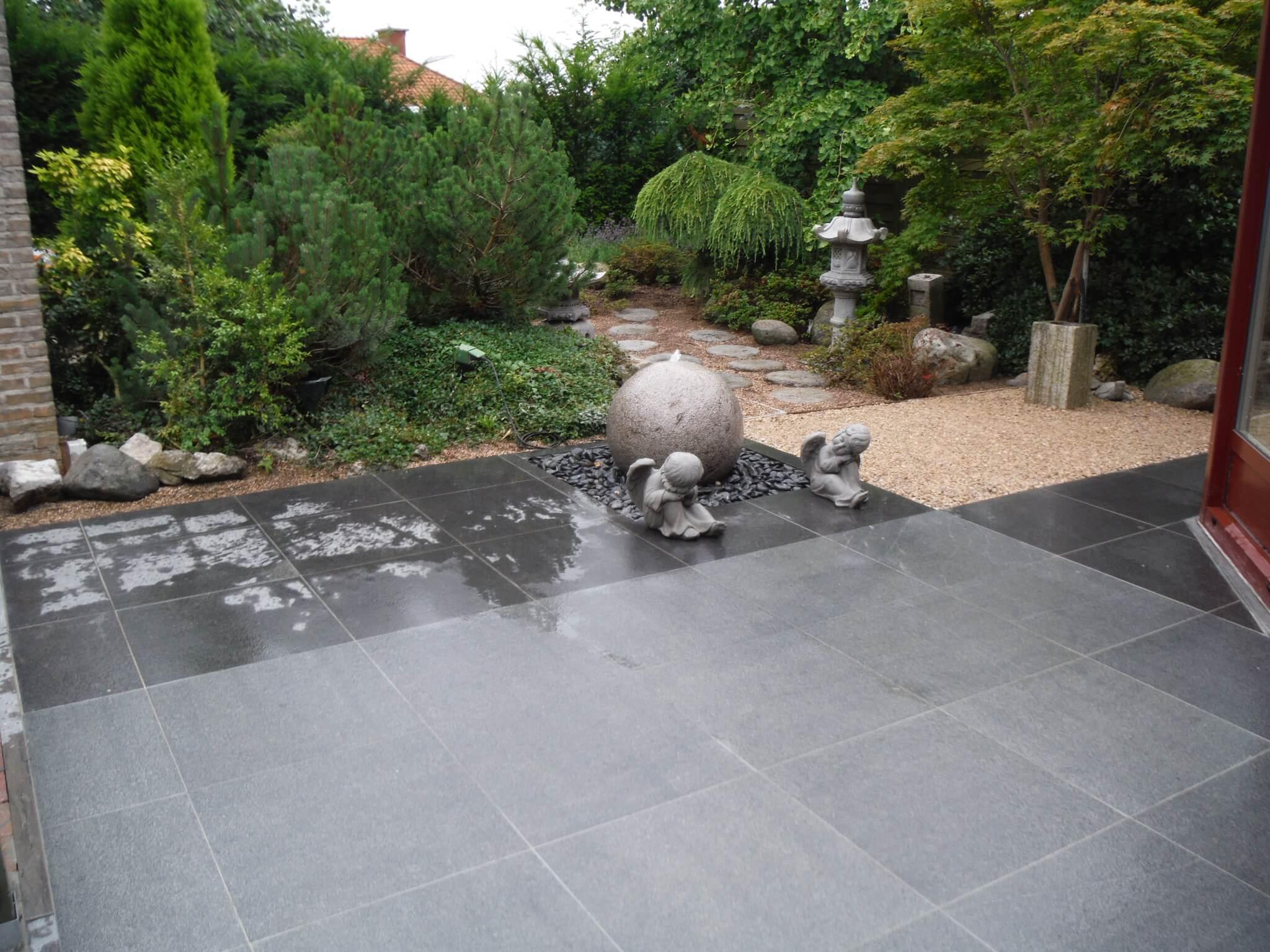 Project anzegem aanleg terras tuinconcept verhamme for Aanleg kleine tuin