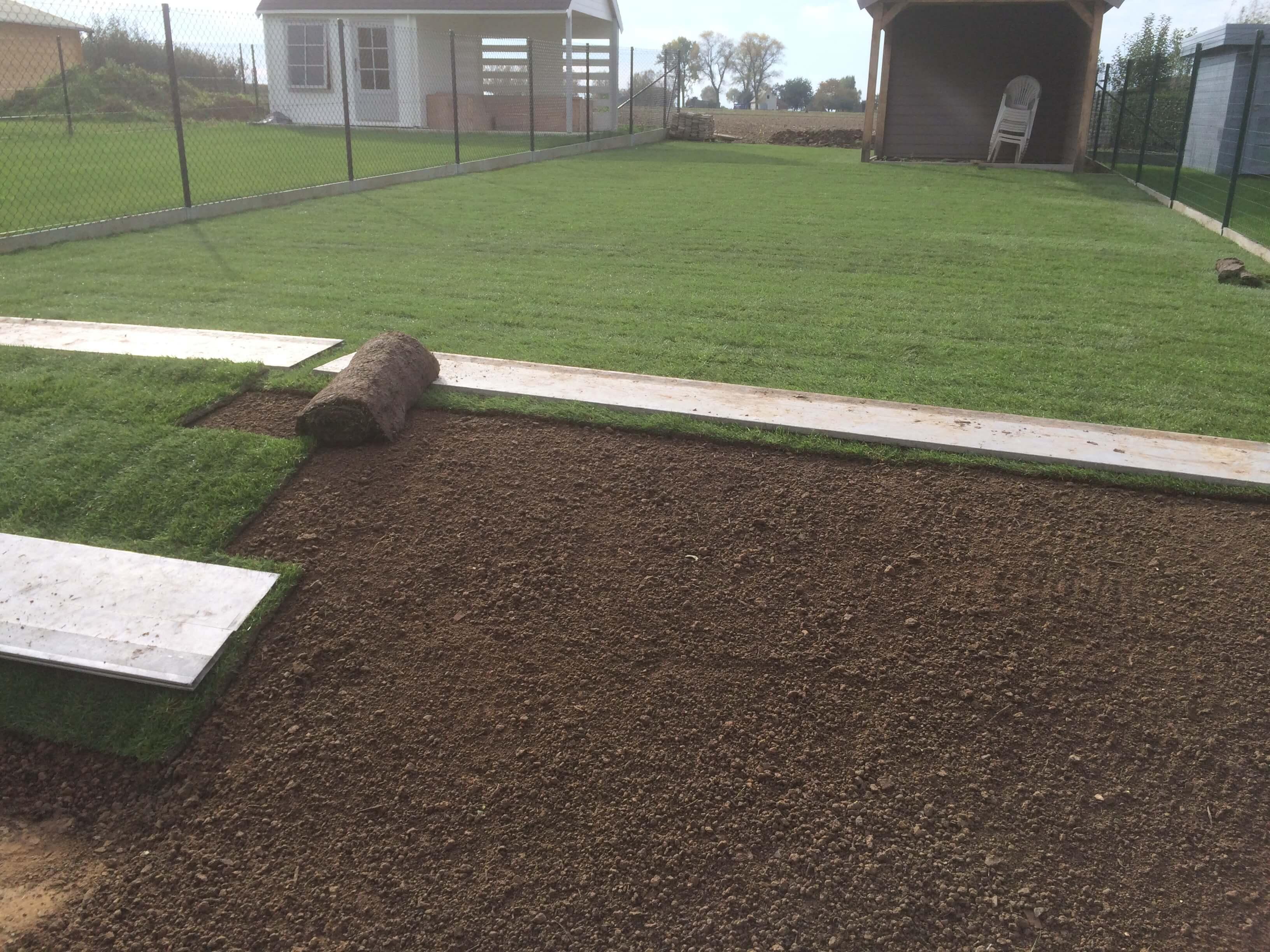 aanleggen van graszoden